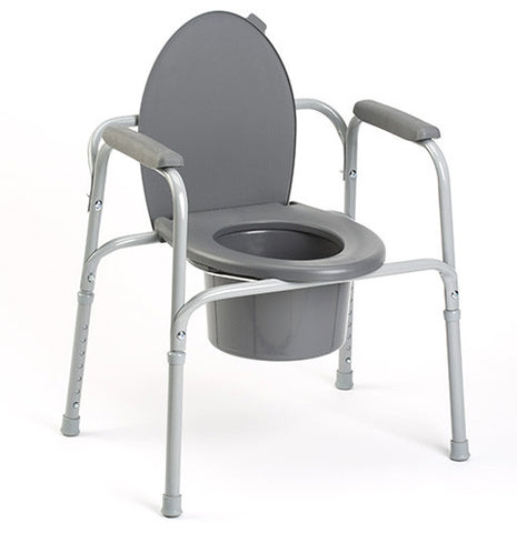 Deluxe 3 in 1 Steel Powder Coated Commode - Budget Medical Supplies