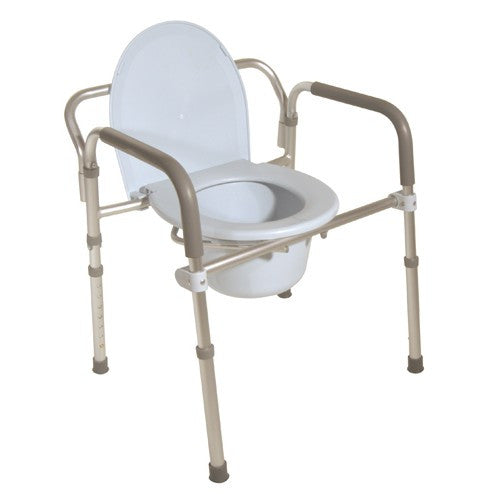 Silver Aluminum Folding Commode - Budget Medical Supplies