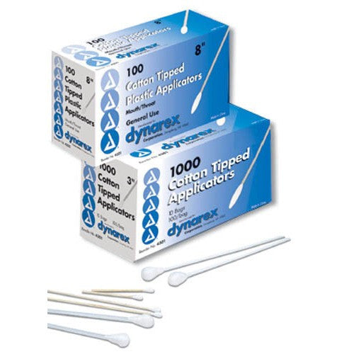 "6"" Non-Sterile Cotton Tipped Applicators - Budget Medical Supplies"