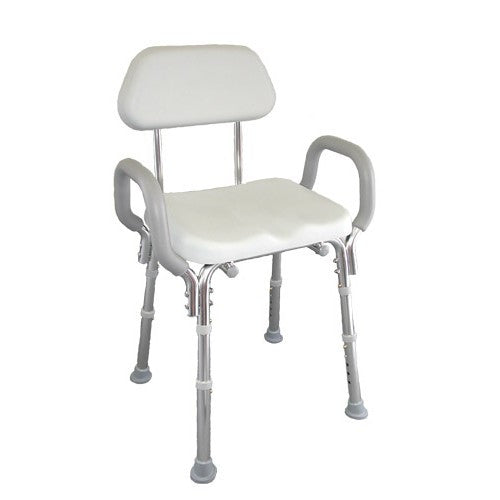 Padded Shower Chair with Armrests and Back - Budget Medical Supplies