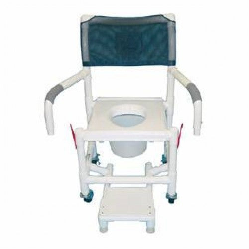 Shower Chair with Vacuum Seat & Sliding Footrest - Budget Medical Supplies