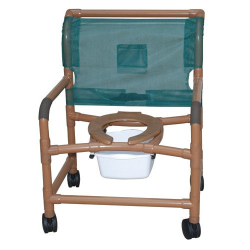 Deluxe X-Wide Wood Tone Shower Chair - PVC - Budget Medical Supplies
