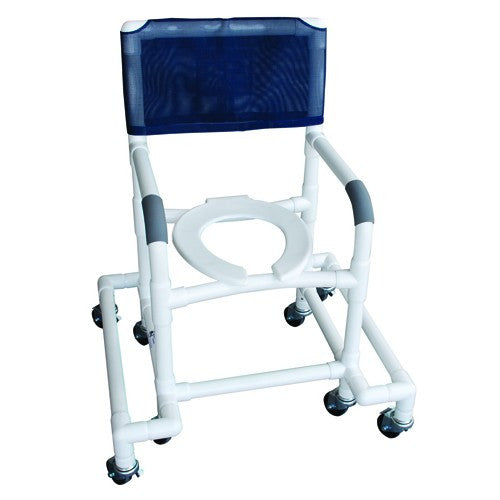 Shower Chair with Outrigger & Swivel Movement - PVC - Budget Medical Supplies