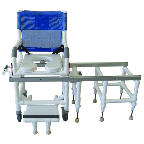 Deluxe Dual Commode Shower and Transfer Chair with One Step Lock - Budget Medical Supplies