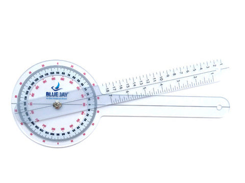 "360 Degree 12"" Plastic Goniometer - Budget Medical Supplies"