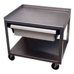 2 Shelf Stainless Cart with Drawer - Budget Medical Supplies