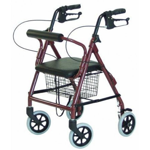 Lumex Walkabout Imperial Hemi 4-Wheel Bariatric Rollator - Budget Medical Supplies