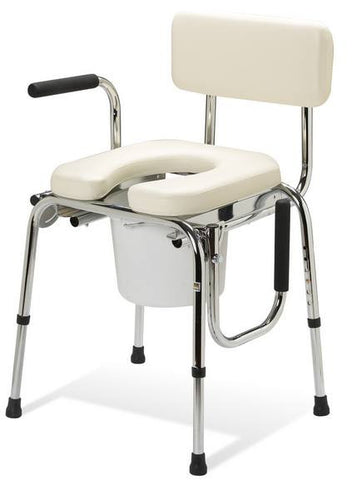 Drop Arm Commode with Padded Seat - Budget Medical Supplies