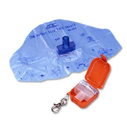 Adsafe CPR Face Shield Plus with Mouthpiece & 1 Way Valve - Budget Medical Supplies