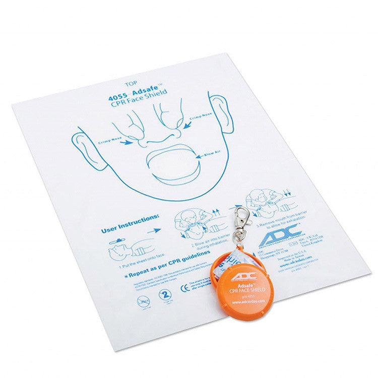 Adsafe CPR Face Shield with Keychain - Budget Medical Supplies