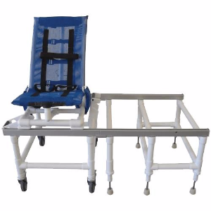 Articulating PVC Dual Shower & Transfer Chair with One Step Lock - Budget Medical Supplies