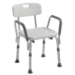 Bath Bench with Back & Removable Arms - Budget Medical Supplies