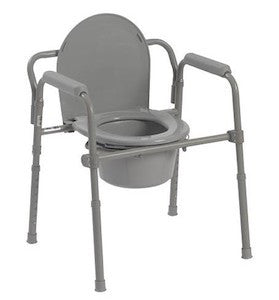 Folding 3 in 1 Steel Commode - Budget Medical Supplies