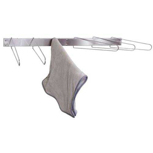 Folding 6-Hook Wall Mount Towel Drying Rack - Budget Medical Supplies
