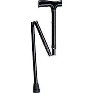 Adjustable Folding Cane with Pistol Grip - Budget Medical Supplies