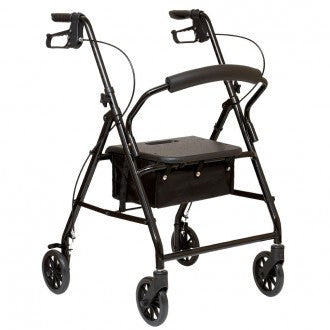 4 Wheel Aluminum Rollator with Loop Brake - Budget Medical Supplies