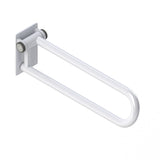 Hinged White Powder-Coated P.T. Rail - Budget Medical Supplies