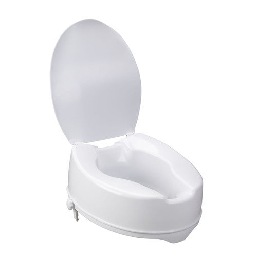 Savannah-Style Raised Toilet Seat with Lid - Budget Medical Supplies