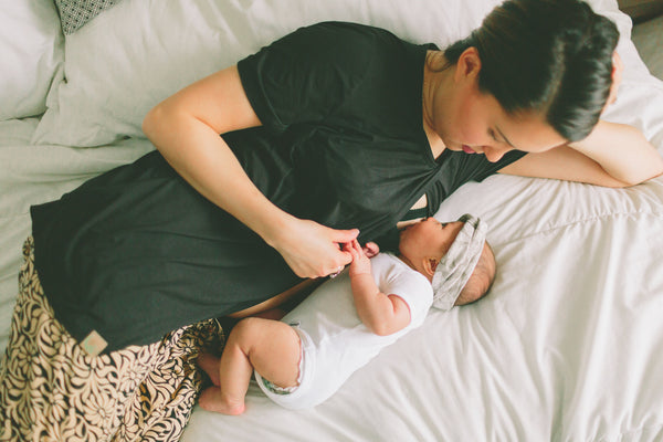 Breastfeeding-friendly at its finest! Nurse your baby in comfort in the Sleep Shirt.