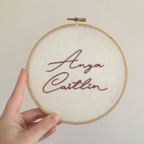 Custom Name Hoop