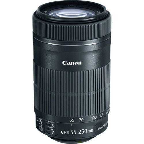 Canon EF-S 55-250mm f4-5.6 IS STM Lens (White Box)