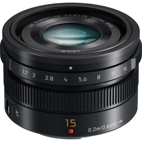 Panasonic Leica DG Summilux 15mm f1.7 ASPH Black Lens