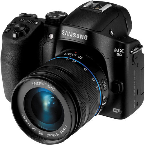 Samsung NX30 with 18-55mm f/3.5-5.6 OIS Lens Black Mirrorless Digital Camera