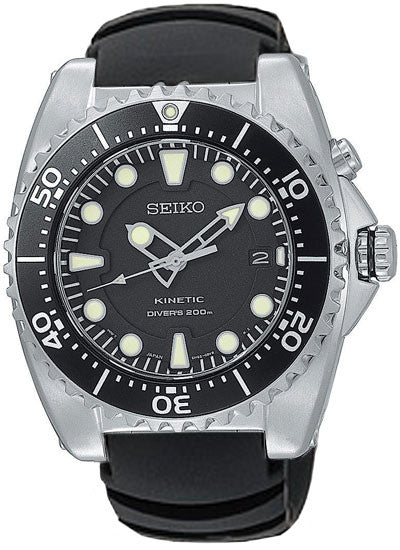 Seiko Kinetic Analog Rubber Strap SKA371 Watch (New with Tags)