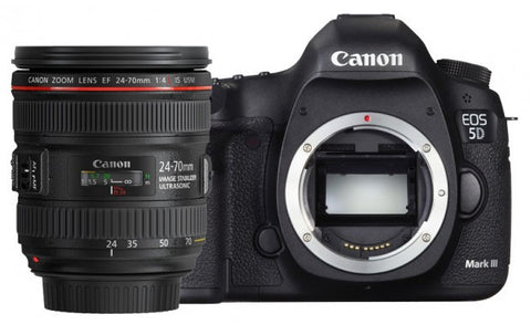 Canon EOS 5D Mark III Kit with EF 24-70mm f/2.8L II USM Lens Black Digital SLR Camera