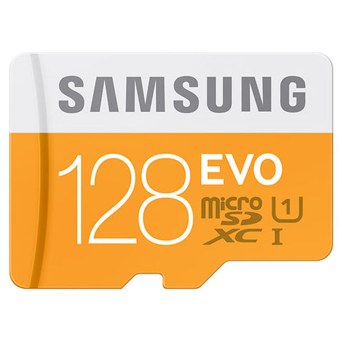 Samsung T-Flash Evo 128GB MicroSDHC Class 10 (MB-MP128DA/EU) Memory Card with Adapter