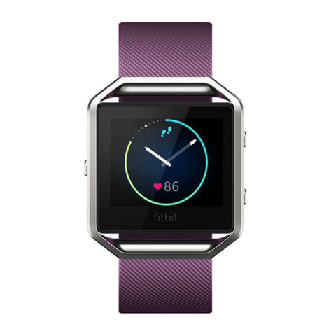 Fitbit Blaze FB502SPMS Classic Wristband Fitness Smart Watch Small (Plum)