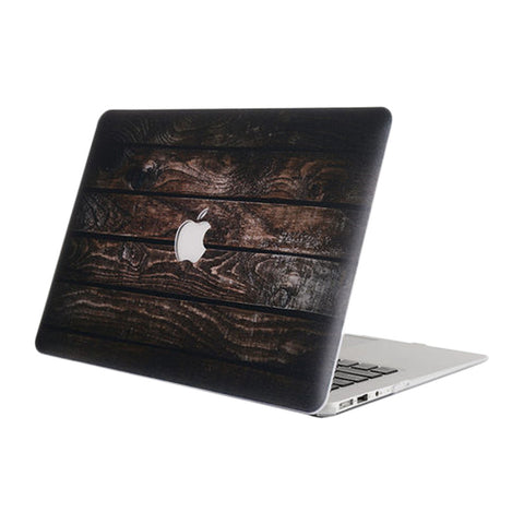 Ancient Wood Grain Pattern Protective Shell for Macbook 12