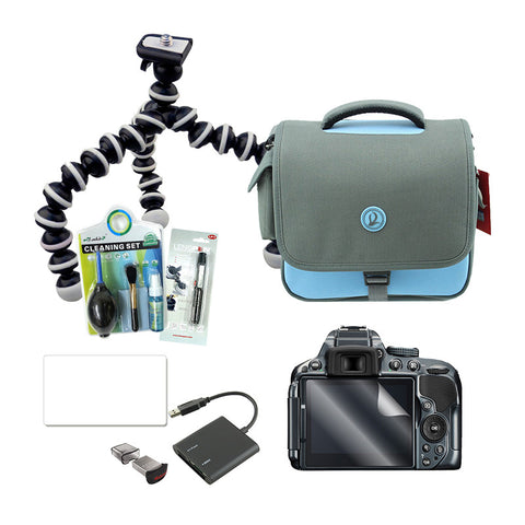 Travel Bundle Pack (Cleaning Kit, Lenspen, Screen Protector, Tripod, Flash Drive, Card Reader, Camera Bag)