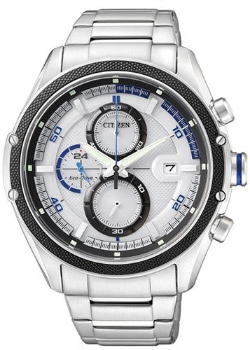 Citizen Eco-Drive Chronograph Sports CA0120-51A Watch (New with Tags)