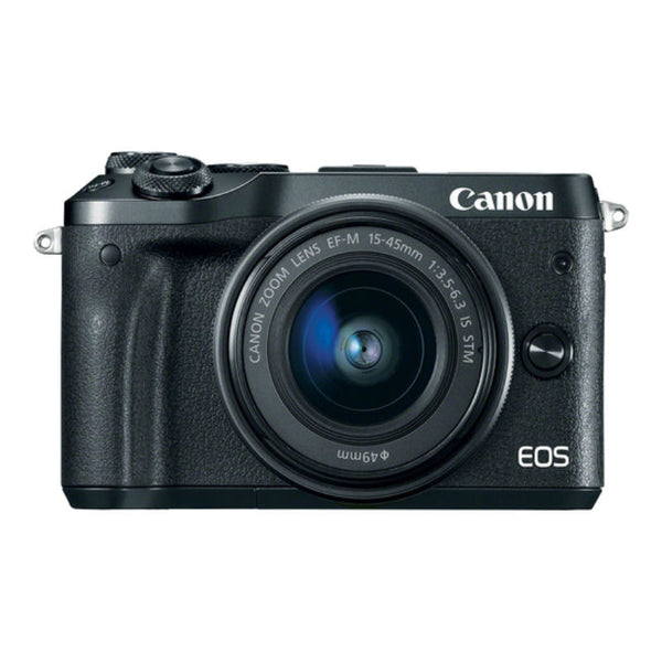Canon EOS M6 Mirrorless with EF-M 15-45mm f/3.5-6.3 IS STM Lens Black Digital Camera