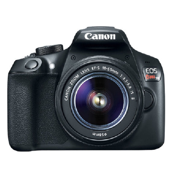 Canon EOS 1300D (Rebel T6) with EF-S 18-55mm f/3.5-5.6 IS II Lens Black Digital SLR Camera