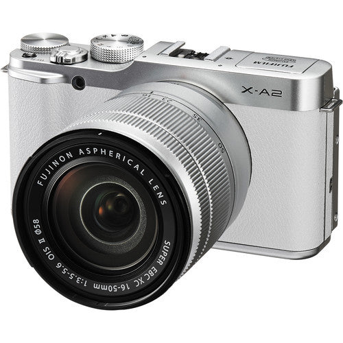 Fuji Film X-A2 with 16-50mm and 50-230mm White Mirrorless Digital Camera