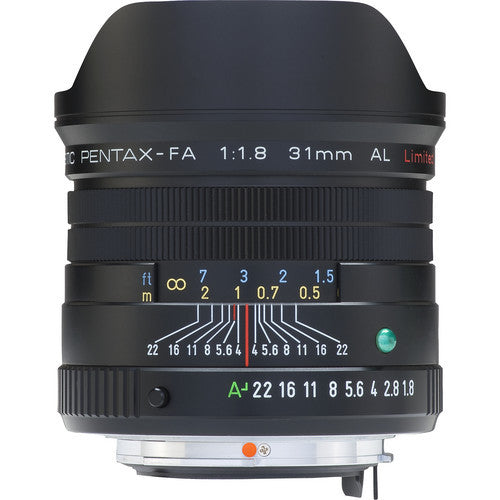 Pentax smc FA 31mm f1.8 AL Limited Black Lens