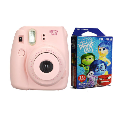 Fuji Film Instax Mini 8 Pink Instant Camera with (Inside Out) Photo Paper