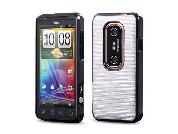 Momax Feel & Touch Case For Evo 3D (Silver)