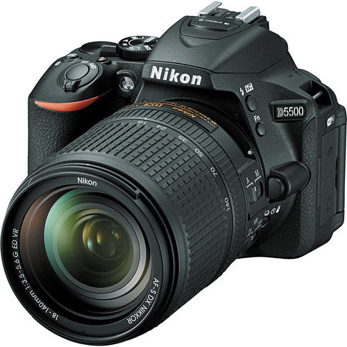 Nikon D5500 with 18-140mm Black Digital SLR Camera