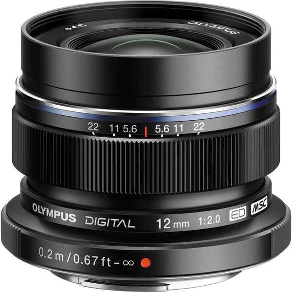 Olympus M.Zuiko Digital ED 12mm f/2.0 Black Lens