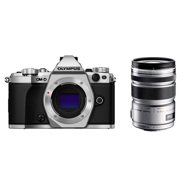 Olympus OM-D E-M5 Mark II with 12-50mm Lens Mirrorless Micro 4/3 Silver Digital SLR Cameras