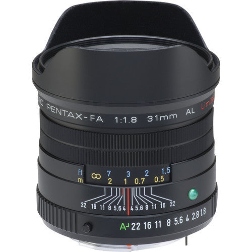 Pentax smc FA 31mm f1.8 AL Black Limited Lens