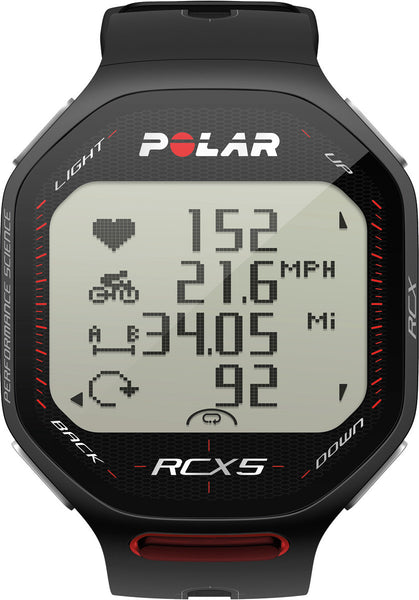 Polar Running and Multisport RCX5 90051068 GPS Sports Watch (Black)
