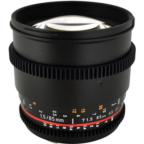 Samyang 85mm T1.5 AS IF UMC VDSLR (Sony A-Mount) Lens