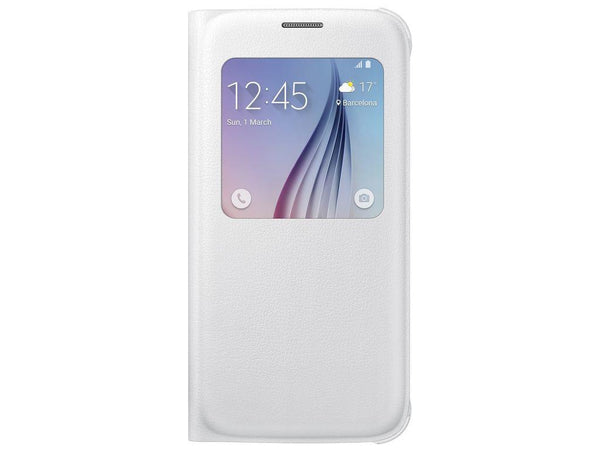 Samsung S-View Cover to suit Galaxy S6 EF-CG920PWEGWW (White)