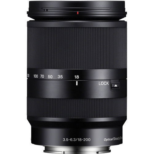 Sony E 18-200mm F3.5-6.3 OSS LP E Black Zoom Lens
