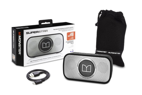 SuperStar High Definition Bluetooth Speaker 720079 (Grey)