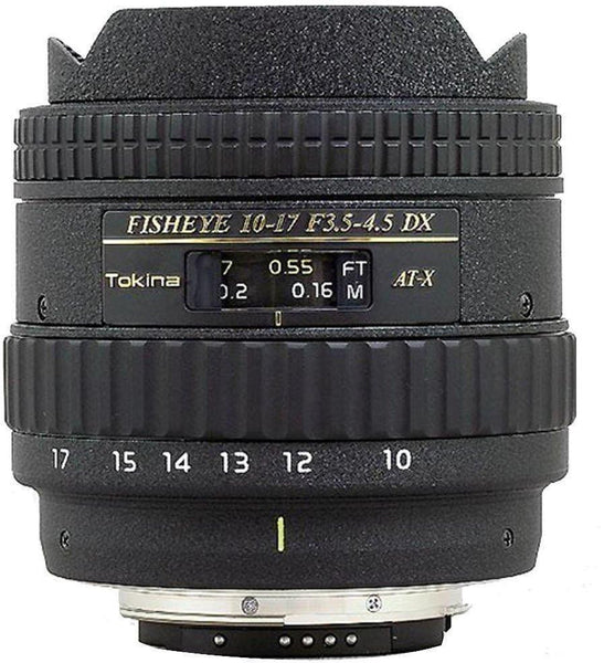 Tokina 10-17mm f/3.5-4.5 AT-X 107 DX AF Fisheye (Nikon) Lens
